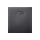 Квадратный душевой поддон из искусственного камня Asignatura Tinto 49837002 черный матовый