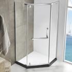 Пентагональная душевая кабина Asignatura Turia 39020409 профиль хром/прозрачное стекло