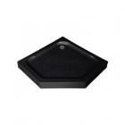 Пентагональный акриловый душевой поддон Asignatura Turia 39833007 черный