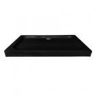 Прямоугольный акриловый душевой поддон Asignatura Vik 59833007 черный