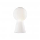 Настольная лампа Ideal Lux Birillo 000251 белый, хром, окисленное стекло, металл