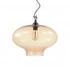 Люстра подвесная Ideal Lux Bistro' 163772 модерн, прозрачный, стекло, металл, черный, янтарный