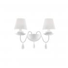 Настенный светильник Ideal Lux Blanche 035598 современный, белый матовый, ПВХ, ткань, металл