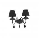 Настенный светильник Ideal Lux Blanche 111889 современный, черный матовый, ПВХ, ткань, металл