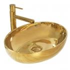 Раковина на столешницу Rea Carola Slim REA-U4321 золото