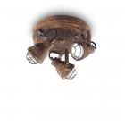 Светильник потолочный спот Ideal Lux Bob Mini 156415 лофт, коричневый, металл