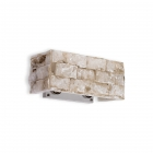 Настенный светильник Ideal Lux Carrara 018775 лофт, алебастр