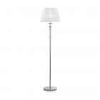 Торшер Ideal Lux Pegaso 059228 классика, белый, хром, прозрачный