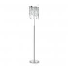 Торшер Ideal Lux Rain Clear 080277 арт-деко, прозрачный, хром, хрустальные подвески, металл