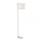 Торшер Ideal Lux Shebaton 074931 винтаж, белый, хром, текстиль