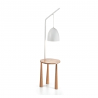 Торшер со столиком Ideal Lux Piano 138282 ретро, дерево, металл, белый