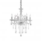 Люстра подвесная Ideal Lux Guidecca 027821 классика, стекло, металл, хром