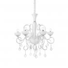 Люстра подвесная Ideal Lux Lilly 022789 неоклассика, белый, прозрачный, хром, стекло, металл