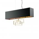 Люстра подвесная Ideal Lux Luxury 219738 модерн, черный, текстиль, золото