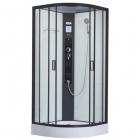 Гидромассажный бокс Dusel DSC-DU511-100SB профиль черный, прозрачное стекло, задние стенки белые