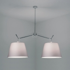 Люстра Artemide Tolomeo Double Shade Suspension W/14 Diffuser Fiber алюминий/ткань