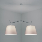 Люстра Artemide Tolomeo Double Shade Suspension W/14 Diffuser Parchment алюминий/пергамент