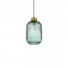 Люстра подвесная Ideal Lux Mint-1 248554 винтаж, дымчатый, латунь, дутое стекло