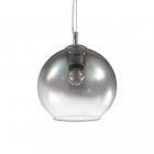 Люстра подвесная Ideal Lux Nemo 149585 модерн, хром, дутое стекло, прозрачный