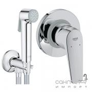 Гигиенический душ скрытого монтажа Grohe Trigger Spray с смесителем Bau Flow 121646 хром