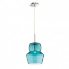 Люстра подвесная Ideal Lux Zeno 036120 винтаж, голубой, хром, стекло