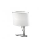 Настольная лампа Ideal Lux Desiree 074870 модерн, текстиль, белый, хром
