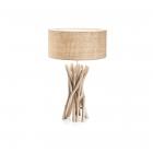 Настольная лампа Ideal Lux Driftwood 129570 эко, натуральный, холст, дерево