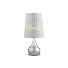 Настольная лампа Ideal Lux Eternity 036007 модерн, металлик, хром, органза