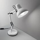 Настольная лампа на гибкой ножке Ideal Lux Kelly 108117 индустриальный, белый, металл