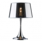 Настольная лампа Ideal Lux London 032375 классика, хром, текстиль