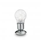 Настольная лампа Ideal Lux Luce 033686 минимализм, прозрачный, хром, стекло