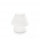 Настольная лампа Ideal Lux Prato 074726 белый, дутое стекло