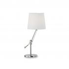 Настольная лампа на гибкой ножке Ideal Lux Regol 014616 техно, белый, никель, текстиль