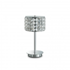 Настольная лампа на гибкой ножке Ideal Lux Regol 114620 арт-деко, прозрачный, хром, хрусталь