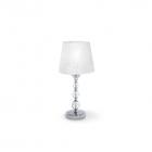 Настольная лампа Ideal Lux Step 026855 модерн, белый, хром, прозрачный, текстиль, стекло