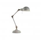Настольная лампа на гибкой ножке Ideal Lux Truman 145204 винтаж, серый, металл