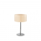 Настольная лампа Ideal Lux Woody 087672 хром, бежевый, ткань