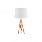 Настольная лампа Ideal Lux York 089782 винтаж, белый, натуральный, дерево