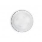 Светильник потолочный Ideal Lux Dony 019635 модерн, прозрачный, белый, окисленное стекло