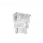 Настенный светильник Ideal Lux Martinez 166254 арт-деко, прозрачные кристаллы, хром, хрустальные подвески