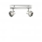 Светильник потолочный спот Ideal Lux Nostalgia 077949 хай-тек, прозрачный, хром, стекло