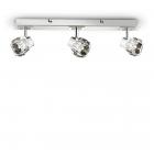 Светильник потолочный спот Ideal Lux Nostalgia 077956 хай-тек, прозрачный, хром, стекло