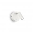 Светильник настенный спот Ideal Lux Page 142586 хай-тек, белый, литой алюминий