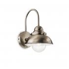 Настенный светильник Ideal Lux Rubens 025292 лофт, прозрачный, дутое стекло, медь