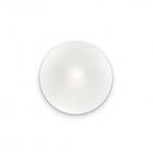 Настенный светильник Ideal Lux Smarties 014814 современный, белый, окисленное стекло, хром