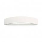 Настенный светильник Ideal Lux Smarties 105727 прозрачный, белый, стекло, металл, гипс