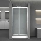 Душевая дверь в нишу с прямоугольным поддоном Q-tap Taurus CRM201-11.C6+301815 хром/прозрачное стекло