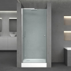 Душевая дверь в нишу с квадратным поддоном Q-tap Presto CRM208.P5+308815 хром/стекло матовое с рисунком