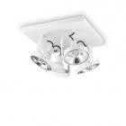 Светильник настенный спот Ideal Lux Glim 229638 хай-тек, белый, металл
