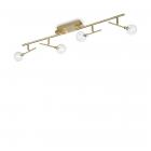 Светильник потолочный Ideal Lux Maracas 200354 модерн, прозрачный, матовая латунь, стекло